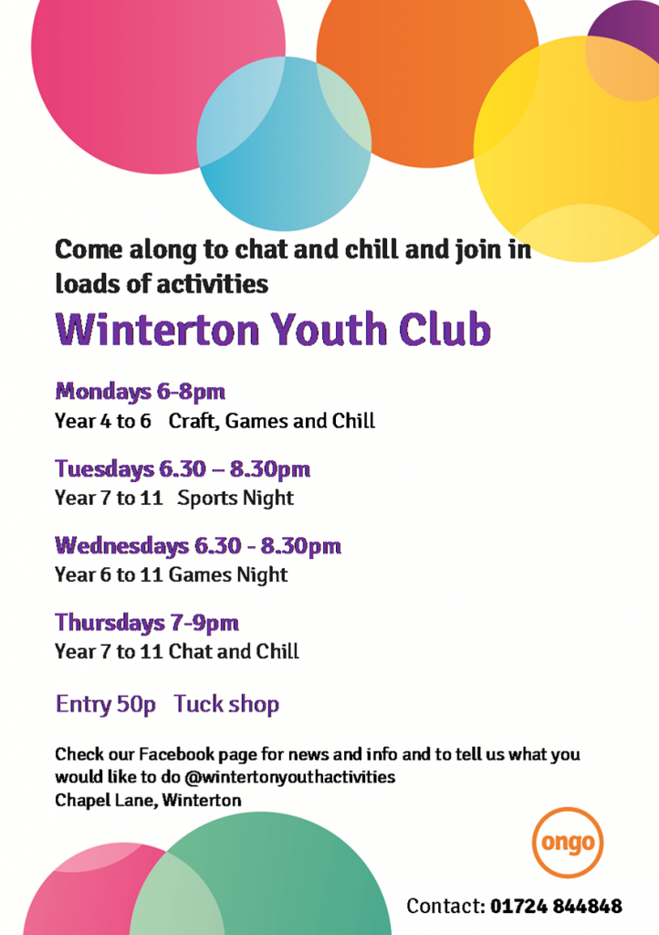 Winterton Youth Club 11 - 16 years @ Winterton Youth Centre | Winterton | England | United Kingdom