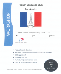 French Language Club @ Brigg Heritage Centre | England | United Kingdom