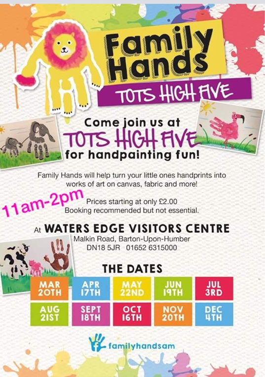 Family Hands Tots High Five @ Waters' Edge Visitor Centre | England | United Kingdom