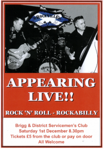 Rock 'N' Roll @ Brigg and District Servicemens Club, Coney Court