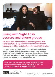 Living with sight loss @ Scunthorpe Central