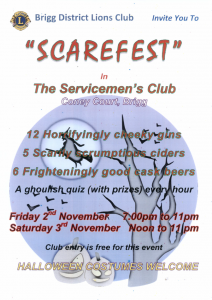 """SCAREFEST"" @ Brigg and District Servicemens Club, Coney Court"