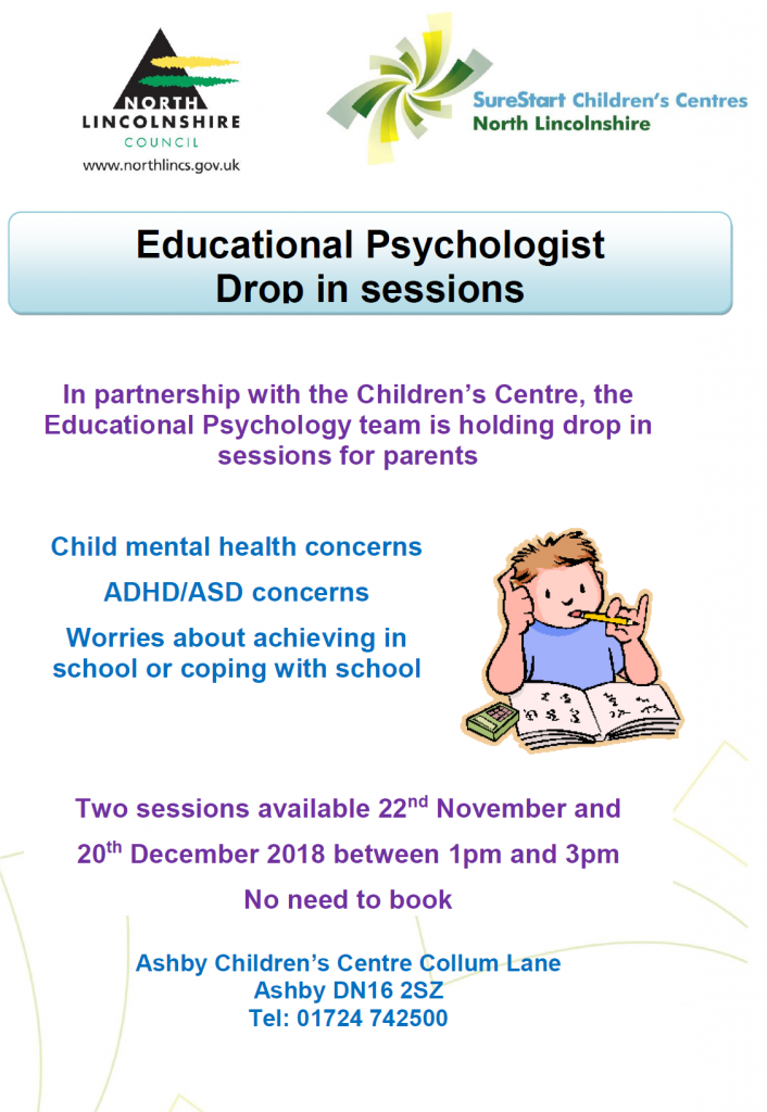 Educational Psychologist Drop In @ Ashby Children's Centre