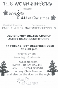Son&gs 4U at Christmas @ Old Brumby United Church