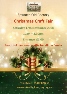 Christmas Craft Fair @ Epworth Old Rectory