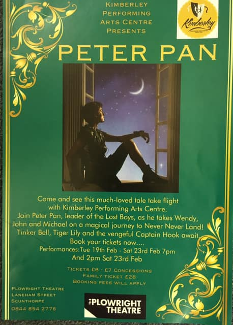 Peter Pan @ Plowright Theatre