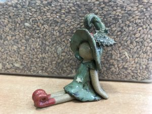 Pottery Christmas Pixie @ Waters' Edge Visitor Centre