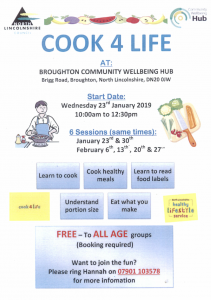 Cook 4 Life @ Broughton Community Wellbeing and Youth Hub