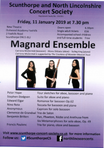 Scunthorpe and North Lincolnshire Concert Society - Magnard Ensemble @ Outwood Academy Foxhills