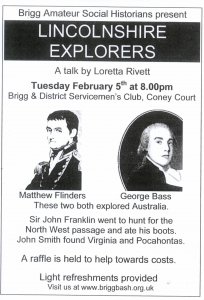 Brigg Amateur Social Historians present, Lincolnshire Explorers @ Brigg and District Servicemens Club, Coney Court