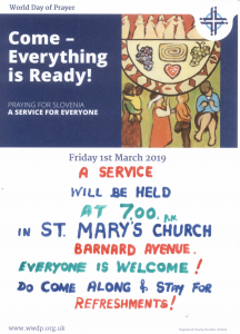 Come - Everything Is Ready! @ St Mary's Church