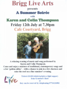 Brigg Live Arts presents A Summer Soiree with Kevin and Colin Thompson @ Cafe Courtyard