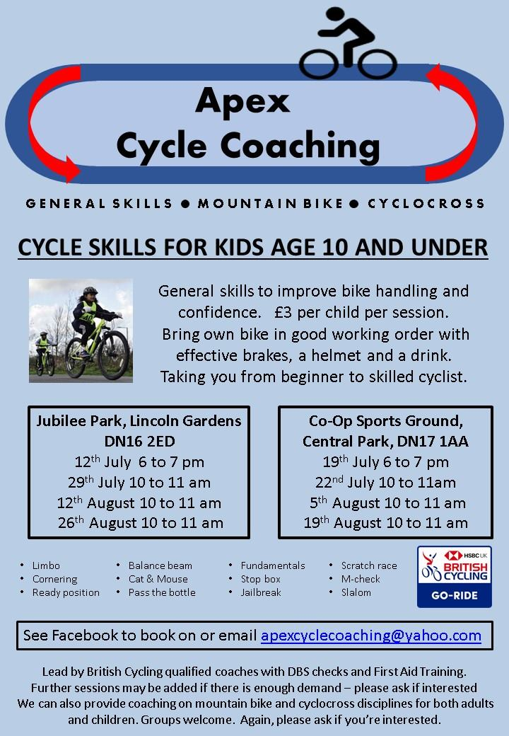 Cycle Skills for Kids age 10 and under @ Central Park