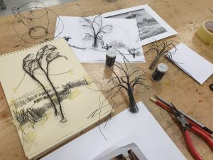 Drawing with Wire Workshop @ 20-21 Visual Arts Centre