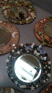 Adult Pottery Butterflies & Bees Mirror @ Waters' Edge Visitor Centre