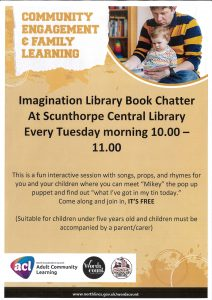 Imagination Library Book Chatter: POSTPONED UNTIL FURTHER NOTICE @ Scunthorpe Central